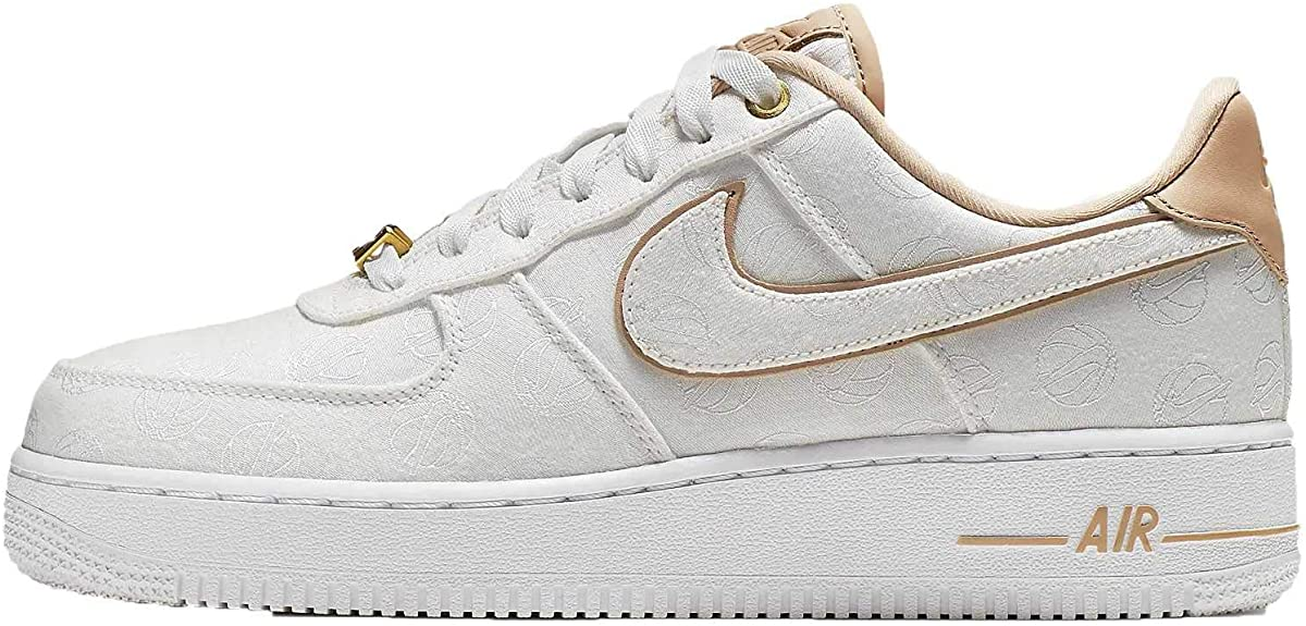 nike air force 1 07 femme blanche et or